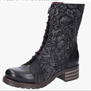 Brako Combat Floral Embossed Design Shoes size 41